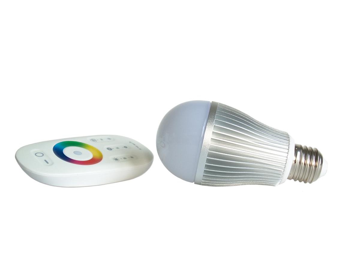 led rgb lamp e27 fitting 6 watt vermogen. Black Bedroom Furniture Sets. Home Design Ideas