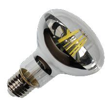 LED E27 - R63 - Filament Spiegel- 6W - 2700K - Dimbaar