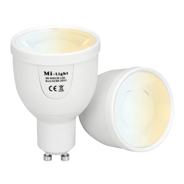 LED GU10 Spot - Dual White - 5W - Wifi/RF Controlled