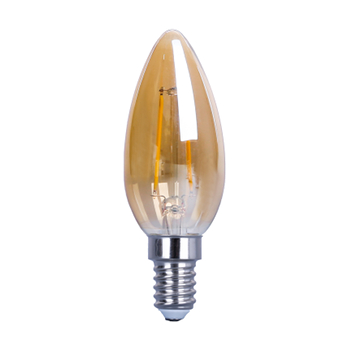 LED Filament E14 Bullet - 2400K - 4W - Dimbaar - Gold