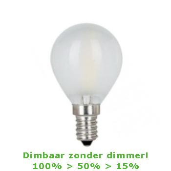 LED E14-G45 Filament Bulb 4W - 3-staps Dimbaar - 2700K - 450 Lm