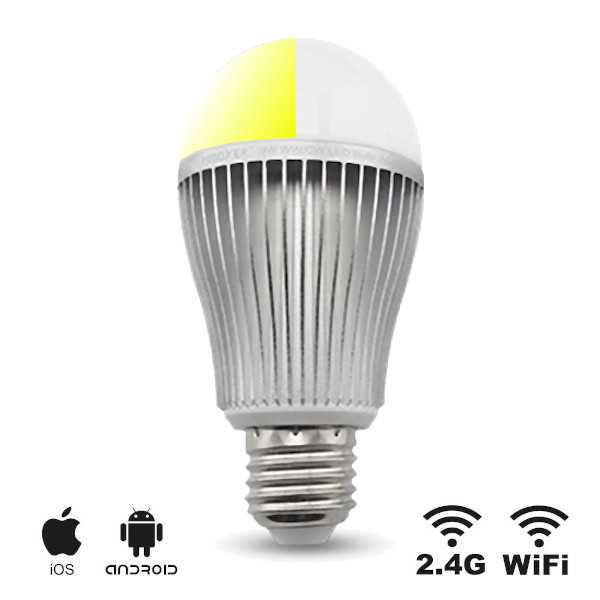 LED E27 Bulb Dual White 9W Wifi RF Controlled