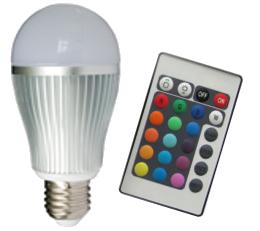 Led E27 RGB 6W inclusief AB (RF)