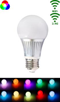 LED E27 RGB/WW Bulb - 5W - Wifi/RF Controlled