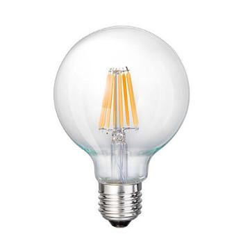 LED E27-G125 Filamentlamp 7W - 3000K - Dimbaar