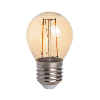 LED E27-G45 Filament 2W - Dimbaar - Goud - 2400K