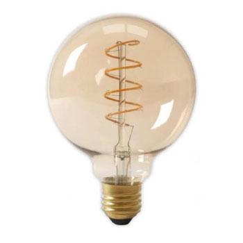 LED E27-G125 Filament 4 Watt - 2700K Curved - Dimbaar
