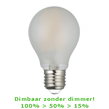 LED E27-A60 Filament 7,5 Watt - 2700K - 3 Staps Dimbaar