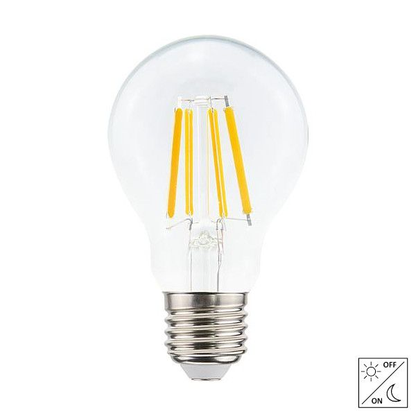 LED E27 A60 Filament 4,2 Watt met schemerschakelaar 2700K 430 Lm