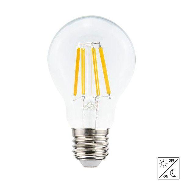 LED E27-A60 Filament 4,2 Watt met schemerschakelaar - 2700K - 430 Lm