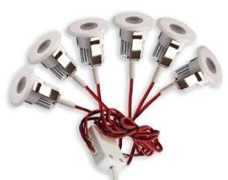 Set 6 LED Inbouwspots 3W 3000K Dimbaar en gratis trafo