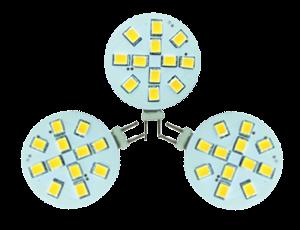 Set 3 x led G4, 2W vervangt 20W, incl. trafo