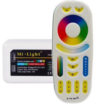 Set Milight Controller en RF afstandsbedienig voor Ledstrip RGB WW CW