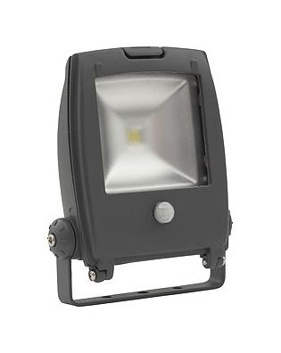 Led Bouwlamp / Buitenlamp met bewegingssensor - 10W - 4000K - IP65 - 500Lm