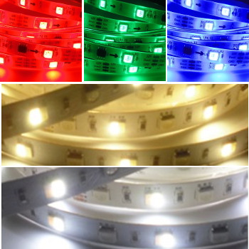 LED Strip 12 Volt RGB WW KW 5 meter Dimbaar IP65