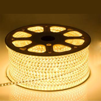 LED Strip 230 Volt - 2700K Warm Wit - IP66 - 60xSMD5050/m