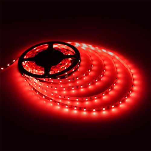 LED Strip DC24 Volt Rood 9,6W m SMD3528 open wire