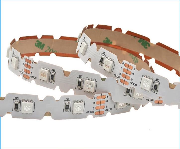 Buigbare LED Strip 12 Volt RGB 5 meter Dimbaar