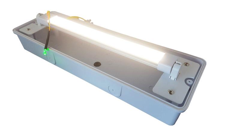 LED Portiek Galerij Opbouw verwisselbare buis met noodpakket 4W 400Lm IP65
