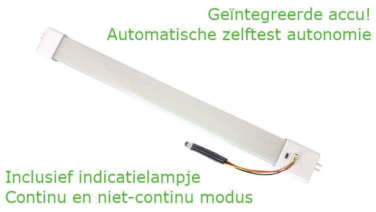 Led T5 TL buis met noodverlichting 30 cm 5 Watt G5 230VAC 4000K