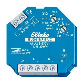 Universele inbouwdimmer Eltako faseafsnijding voor LED en halogeen