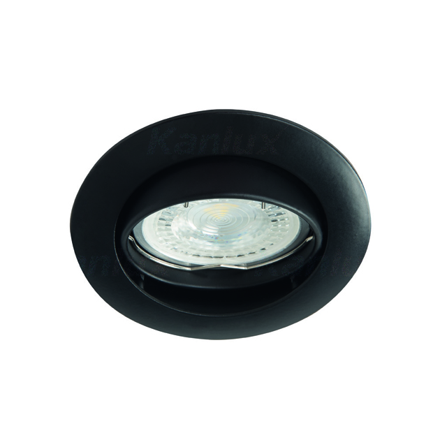 Zwarte armatuur rond 50 mm Kantelbaar